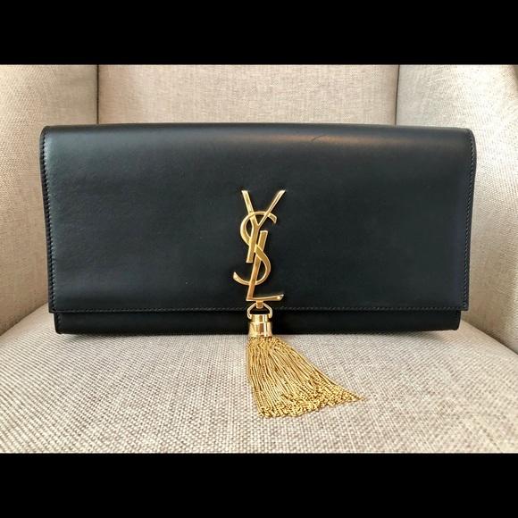 Saint Laurent Handbags - Saint Laurent Cassandre Tassel Clutch Bag
